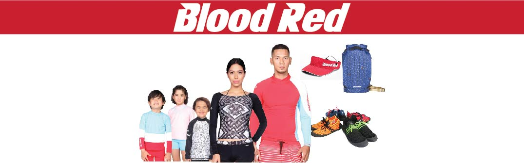 Blood Red quality water and beach wear